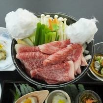 ご夕食イメージ(熊野牛すき焼き)