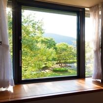 客室からの眺め(吊り橋側のお部屋)