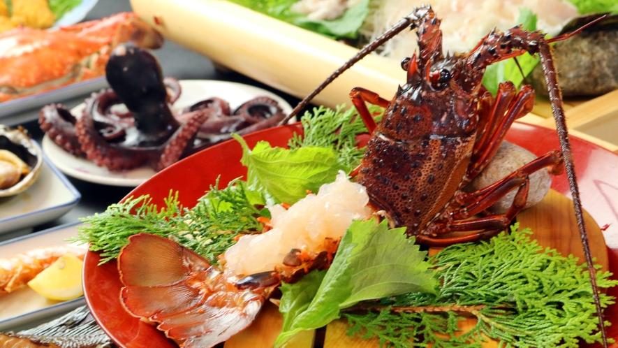 ◆料理イメージ 海の幸をたっぷり使用したやま平自慢のお料理
