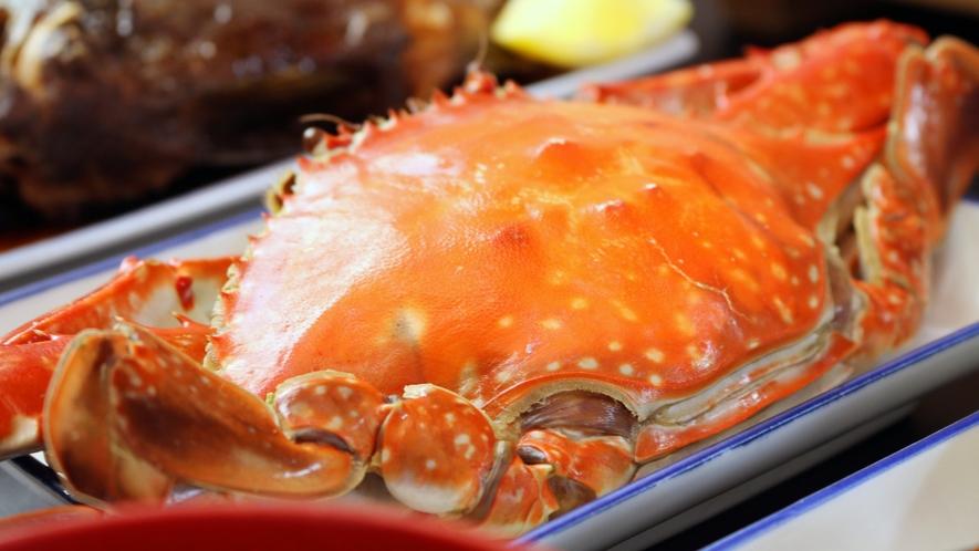 ◆渡り蟹 ボイルしたカニも人気です!