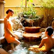 貸切露天風呂「まどかの湯」は、一番人気