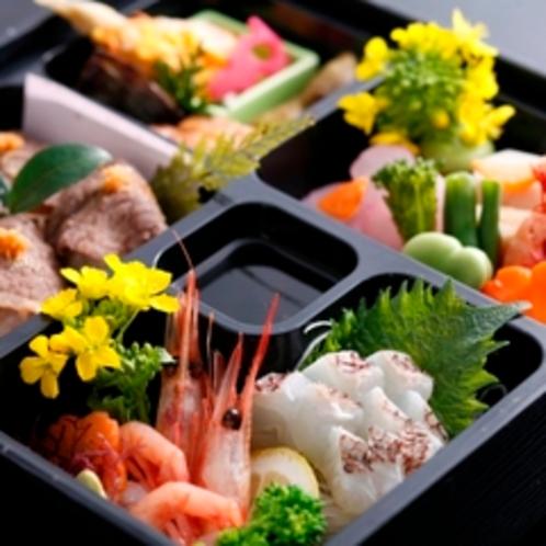お花見ご膳は、桜鯛、但馬牛手まり寿司など春色いっぱい♪