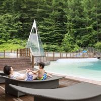 【平日&日帰り】屋外アドベンチャームササビ初級「ファミリーコース」温泉ビーチ&大浴場(811)