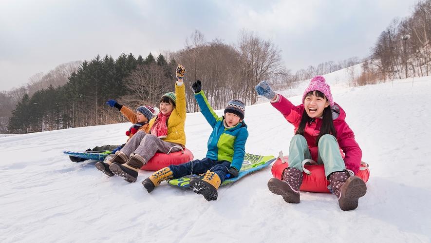 北湯沢スノーパーク。人気のスノースライダー。