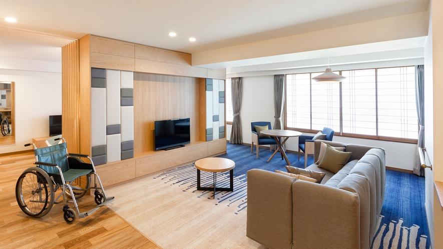 【スタンダードスイート】76平米の広々とした客室、ゆったりとした間取り