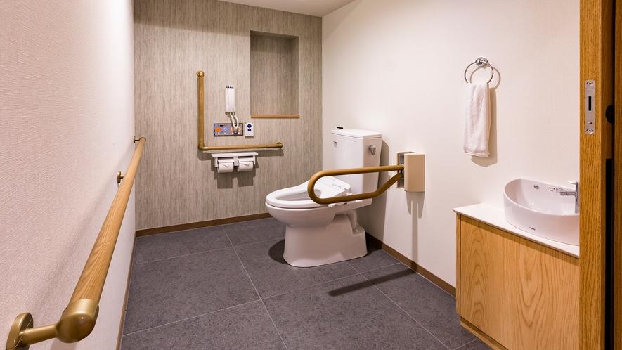 【スタンダードスイート】バス・トイレ別の構造で手すりを各所にご用意しています