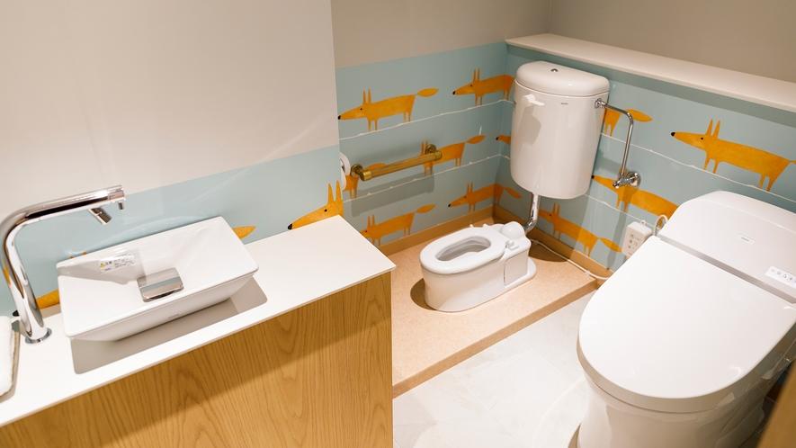 【キッズスペシャルルーム】お子様用トイレも完備してます