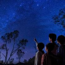 山の中のリゾートだからこそ満点の星空を楽しむことが出来ます。