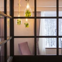 レディーストリプルルーム お部屋からは山の冬景色を楽しめます