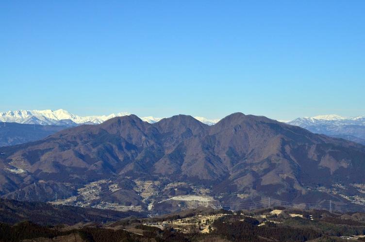 *子持山/鎖等で登る獅子岩からは、関東平野がぐるりと見渡せます。