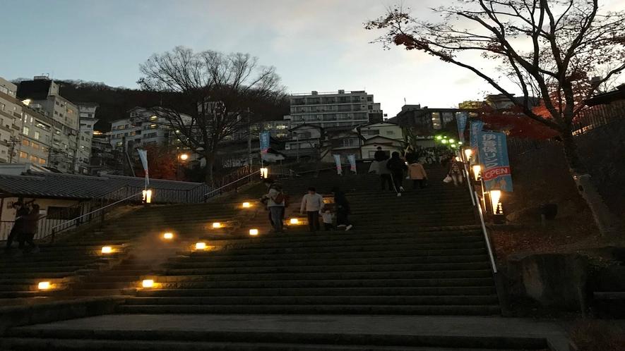 *周辺/言わずと知れた伊香保の石段街、夜は一層風情があります♪