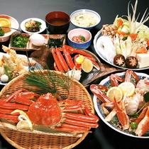 【かにづくし】贅沢!造里、酢物、焼物に、天ぷら、台物…。蟹好きの方のために。(2018年度イメージ)