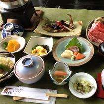 【夕食】いつき会席:季節の食材を使用したボリューム満点のお料理!(2018年冬:イメージ)