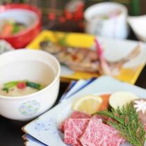 【岩井会席】通常料理よりもワンランク上の料理が味わえるプランです(冬一例)