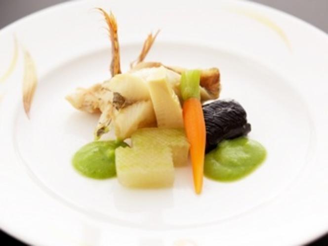 メバルと旬野菜の炊き合わせ