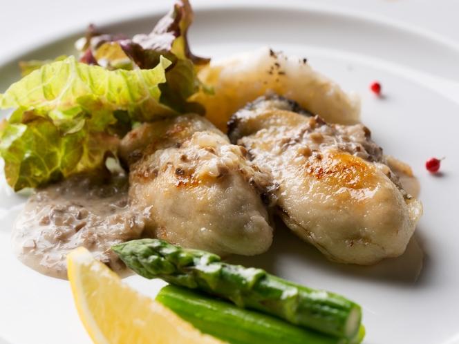 牡蠣ソテーシャンピニオンソース