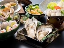 牡蠣は宮島産の打ち立てのかきをお出しします