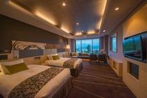 平成27年にリニューアルした海側の景色をお楽しみいただける洋室ベットルーム