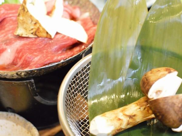 松茸ホイル焼き&松茸牛鍋