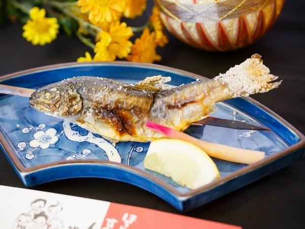 追加お料理 岩魚の塩焼き