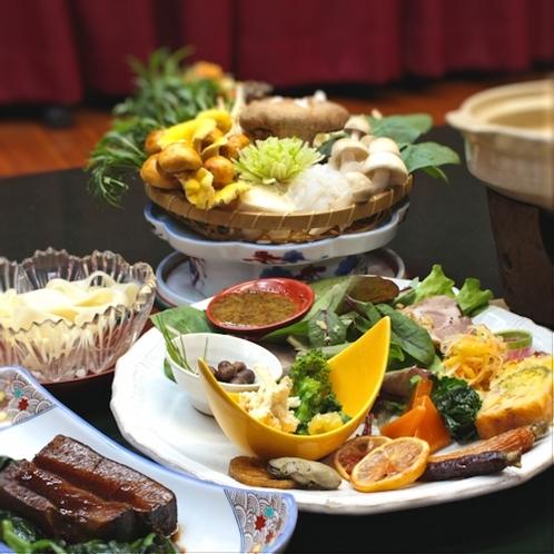 【人気NO・3】●上州麦豚と有機野菜を使った和食会席♪●皮ごと煮込んだ麦豚の角煮はコラーゲンたっぷり