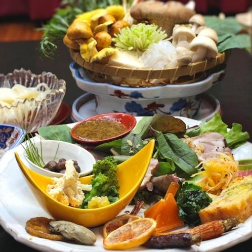 ●上州麦豚と有機野菜を使った和食会席♪●皮ごと煮込んだ麦豚の角煮はコラーゲンたっぷり