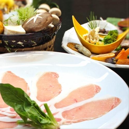 ●上州麦豚しゃぶしゃぶ付き和食会席♪●臭みの無い滑らかなお肉はしゃぶしゃぶが一番!