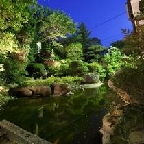 【夜の日本庭園】