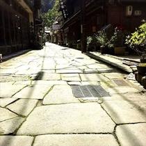 【美保関美保神社】青石畳通り