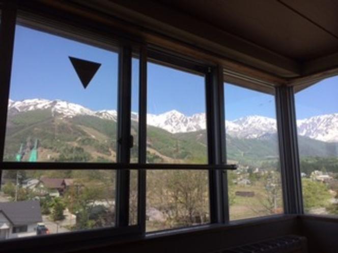 5階からの眺望 白馬三山