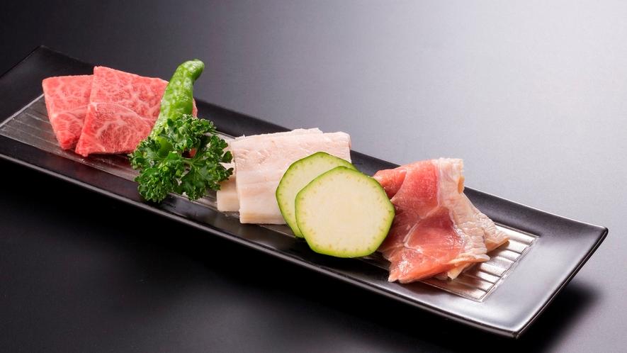*福島県産お肉の3種盛り