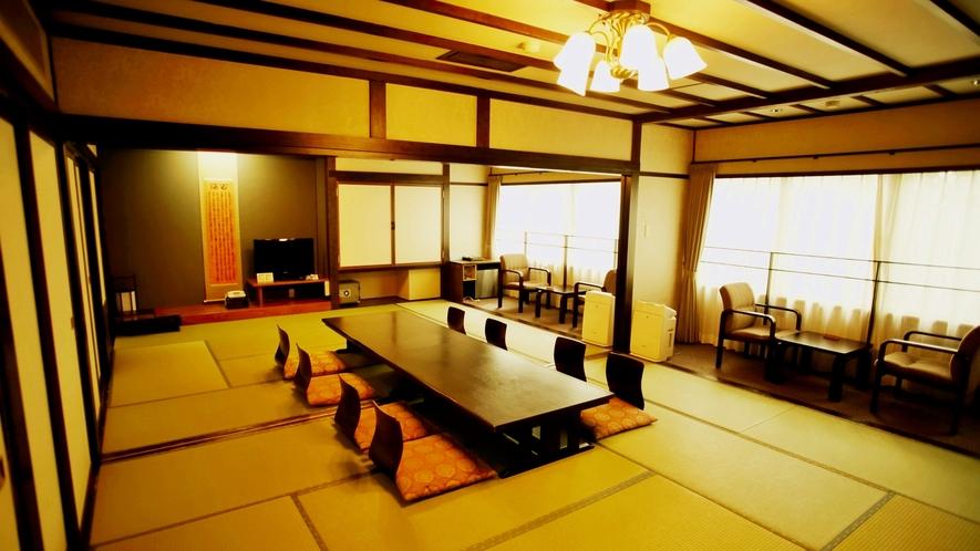 *【和室20畳】宿泊宴会場としても利用可能な広いお部屋です。グループ、2,3世代ファミリーにオススメ