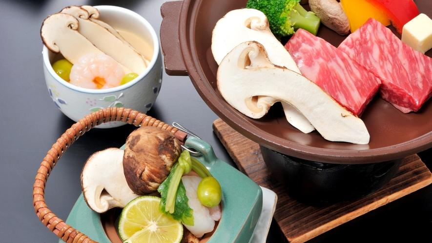 *【信州県産「松茸」会席】秋の味覚といえば松茸!焼き松茸や松茸の茶碗蒸しなどをご用意!