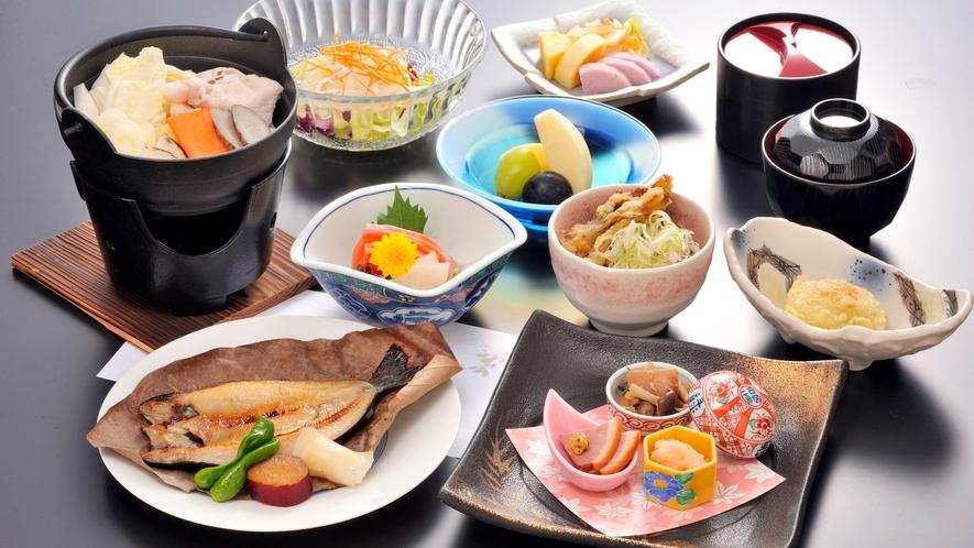 *【夕食一例/憩コース】旬の素材を使った季節の味わいをお楽しみ下さい。