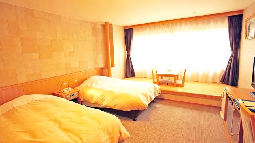 *デラックスツインルーム【30平米】バス・トイレがセパレートでついている広々としたお部屋です。