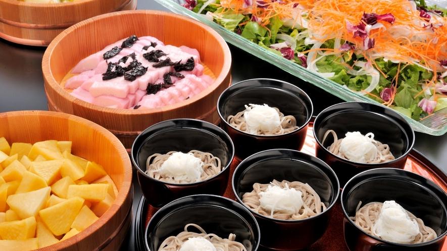 *【夕食一例】信州といえばお蕎麦!本場ならではのお蕎麦を山芋と一緒にお召し上がり下さい!