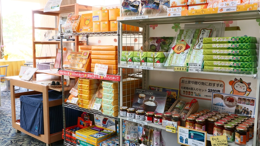 蒲郡みかんを使ったお土産品など豊富に取り揃えております。