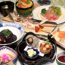 【2018年・夏ファミリー旬会席一例】メインは米茄子と愛知県産豚の角煮です。