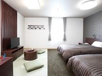 【和モダン】おしゃれな和モダンルーム。清潔感のある客室が、快適な滞在をお約束いたします。