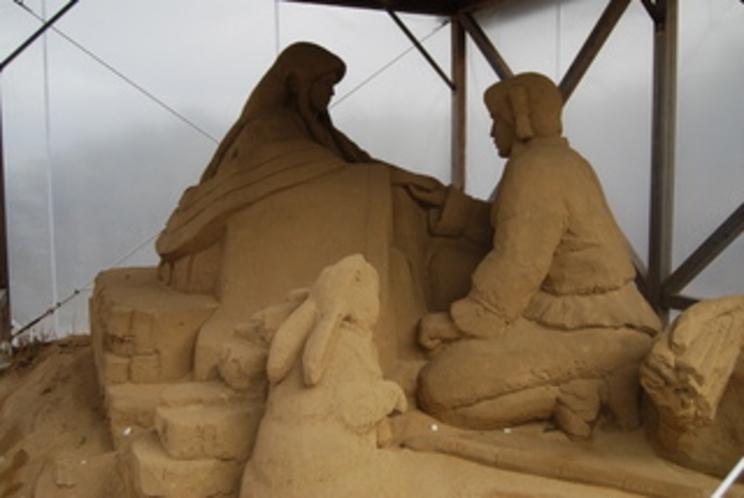 白兎神社 砂像
