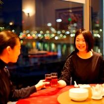 ◇中国酒家「龍殿」夜景◇ カンパイ!