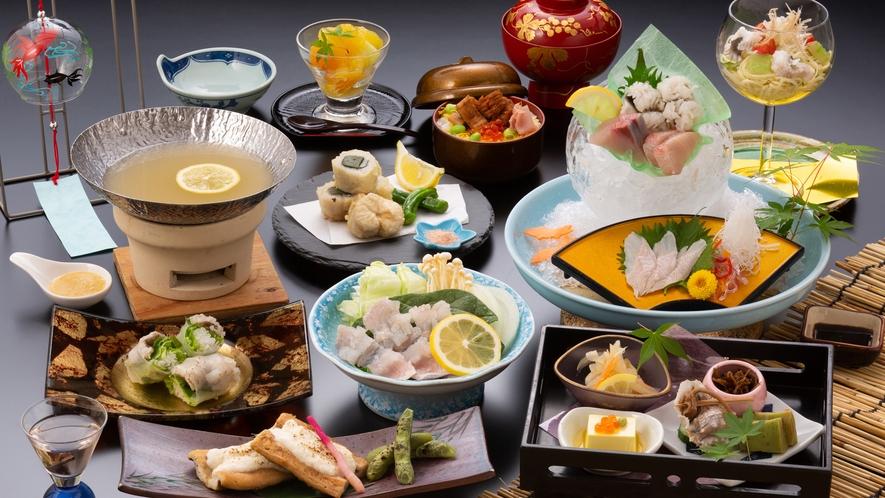 ◆夏得◆鱧と穴子夏旬菜会席