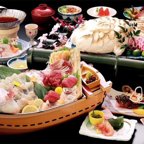 ☆春・夏☆赤穂名物 鯛の塩釜焼と旬菜会席