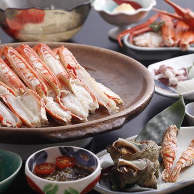 夏の「 焼きカニ付き 磯料理 コース 」