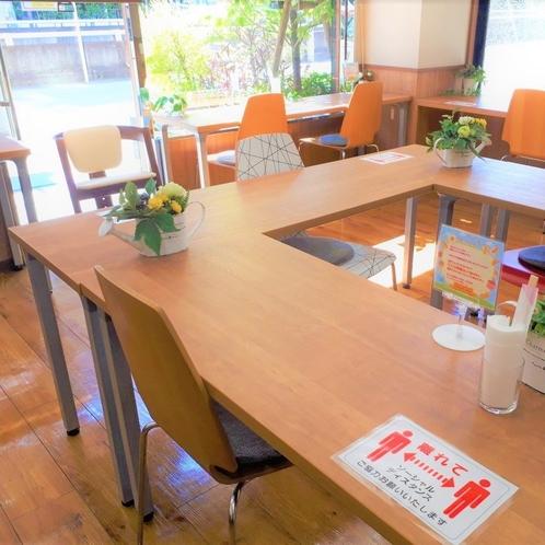 朝食会場ではソーシャルディスタンスを実施しております。
