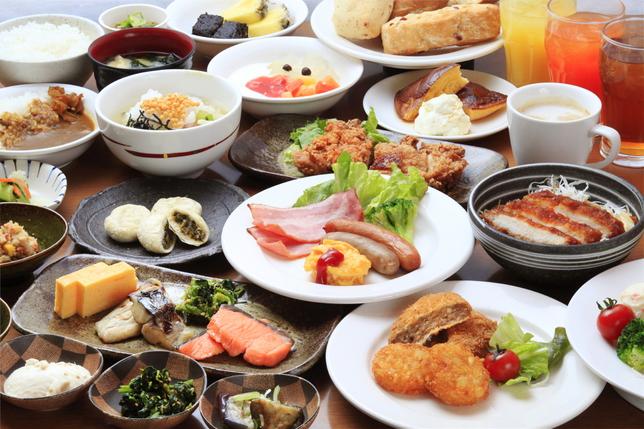 60種類の品目から選べる朝食