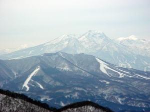 山頂沢コ−スからの眺め