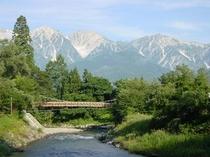 夏の大出つり橋