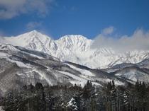 冬の日の白馬三山