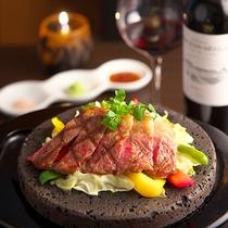 ■上州牛(A4ランク)石焼ステーキ
